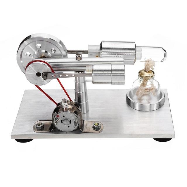 Air motore Stirling Modellino educativo di un motore generatore di corrente x LED