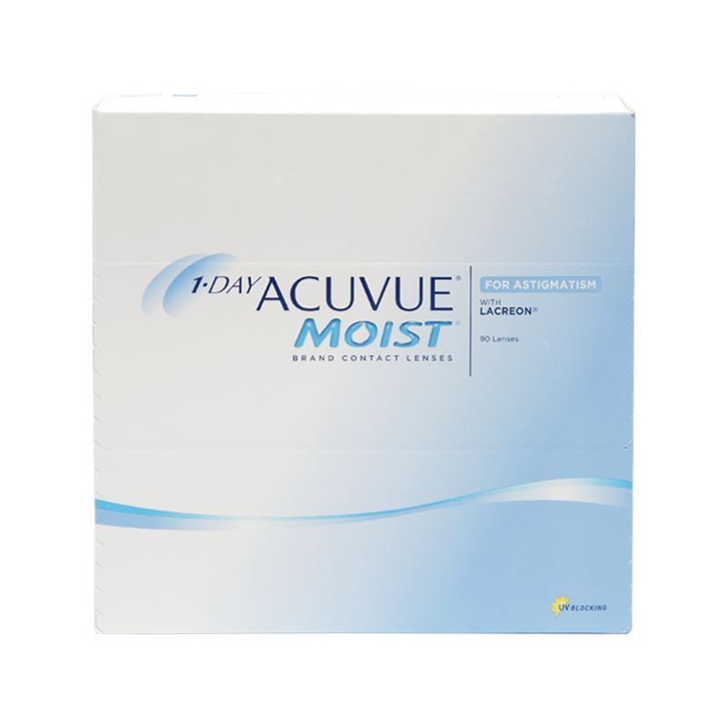 1-DAY ACUVUE MOIST FOR ASTIGMATISM with LACREON – 90