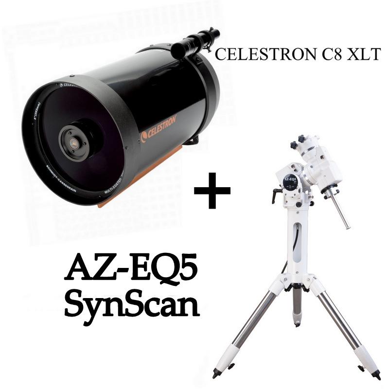 KIT C8 XLT+Montatura Equatoriale AZ-EQ5 SynScan