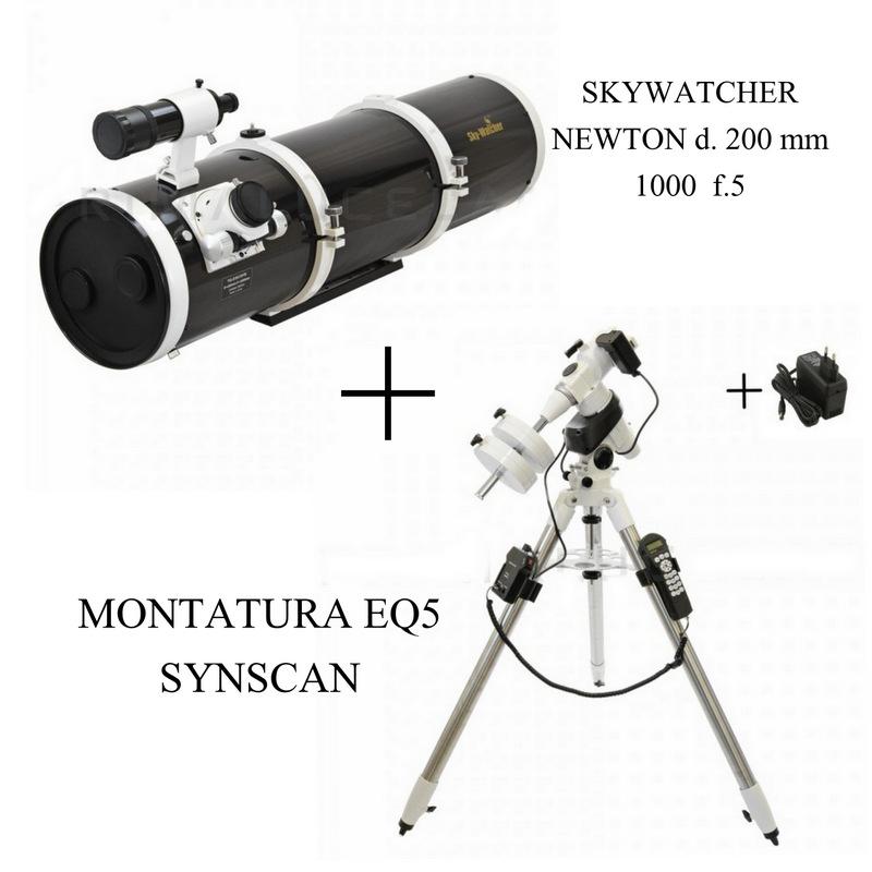 Riflettore Newton 200/1000+MONTATURA EQ5 SYNSCAN