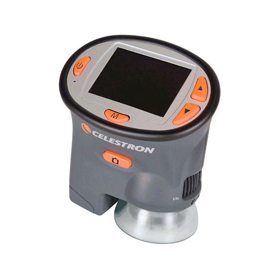 Microscopio digitale compatto con display LCD
