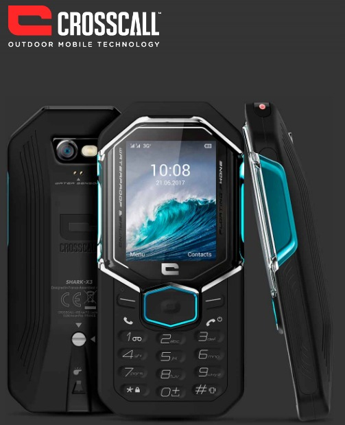 CROSSCALL SHARK X3 BLACK 2.4″ IP68 3G GALLEGGIANTE DUAL SIM