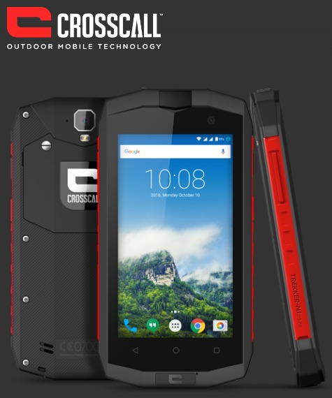 CROSSCALL TREKKER M1 CORE BLACK/RED 4.5″ 16GB/2GB IP67 LTE DUAL SIM