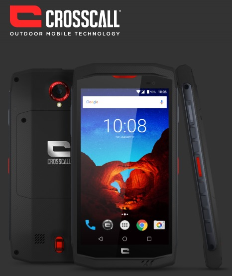 CROSSCALL TREKKER X3 BLACK/RED 5″ 32GB/3GB IP67 LTE