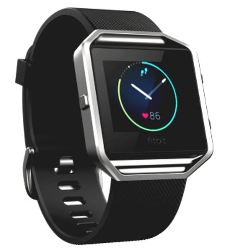 FITBIT BLAZE SMARTWATCH BLACK-SILVER SMALL