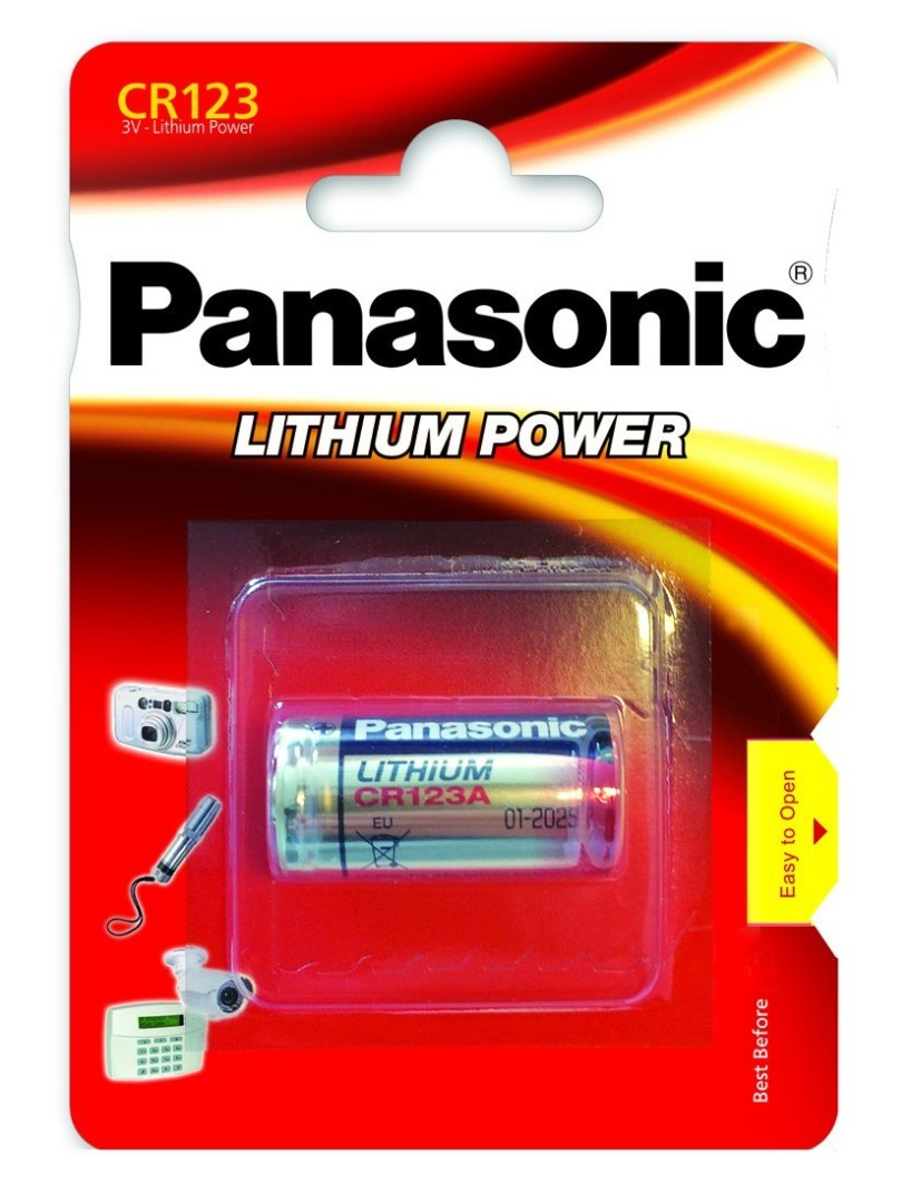 BATTERIA PANASONIC LITHIUM CR123