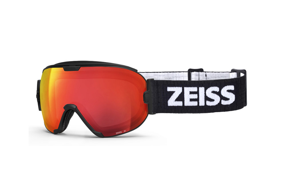 Maschera Sci Snowboard ZEISS – Black ML Red + Lente Intercambiabile Sonar Orange