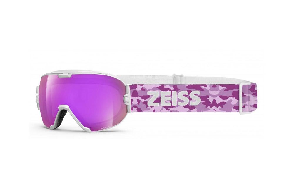 Maschera Sci Snowboard ZEISS – White ML Pink + Lente Intercambiabile Pink