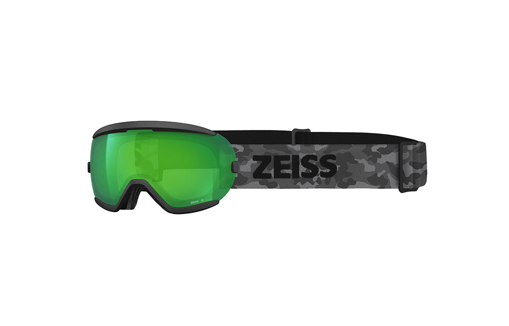 Maschera Sci Snowboard ZEISS – JUNIOR – Black ML Green