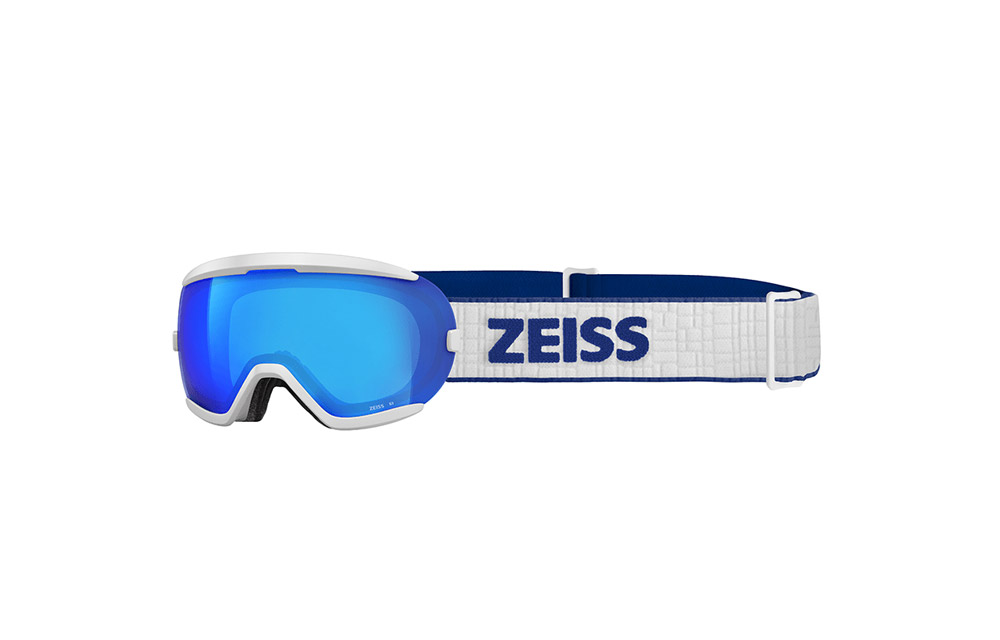 Maschera Sci Snowboard ZEISS – JUNIOR – White ML Blue