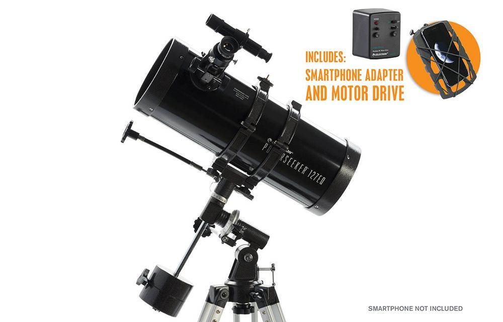 PowerSeeker 127EQ SMART + MotorDrive + Adattatore Smartphone