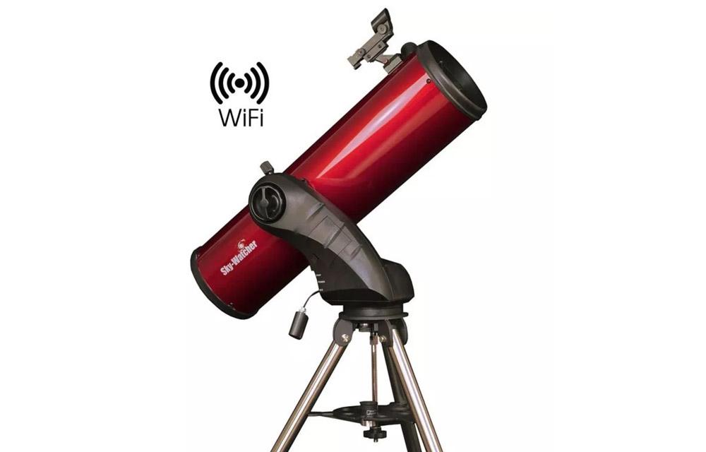 Telescopio Riflettore Newton 150/750 con montatura altazimutale computerizzata Wi-Fi Star Discovery