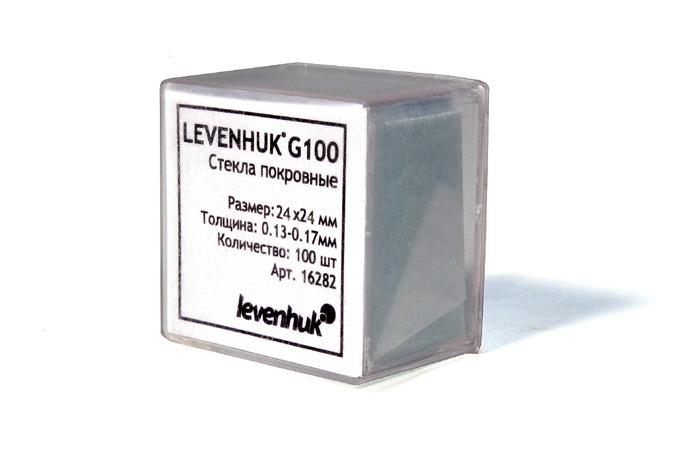 Vetrini copri oggetti Levenhuk G100, 100 pz.