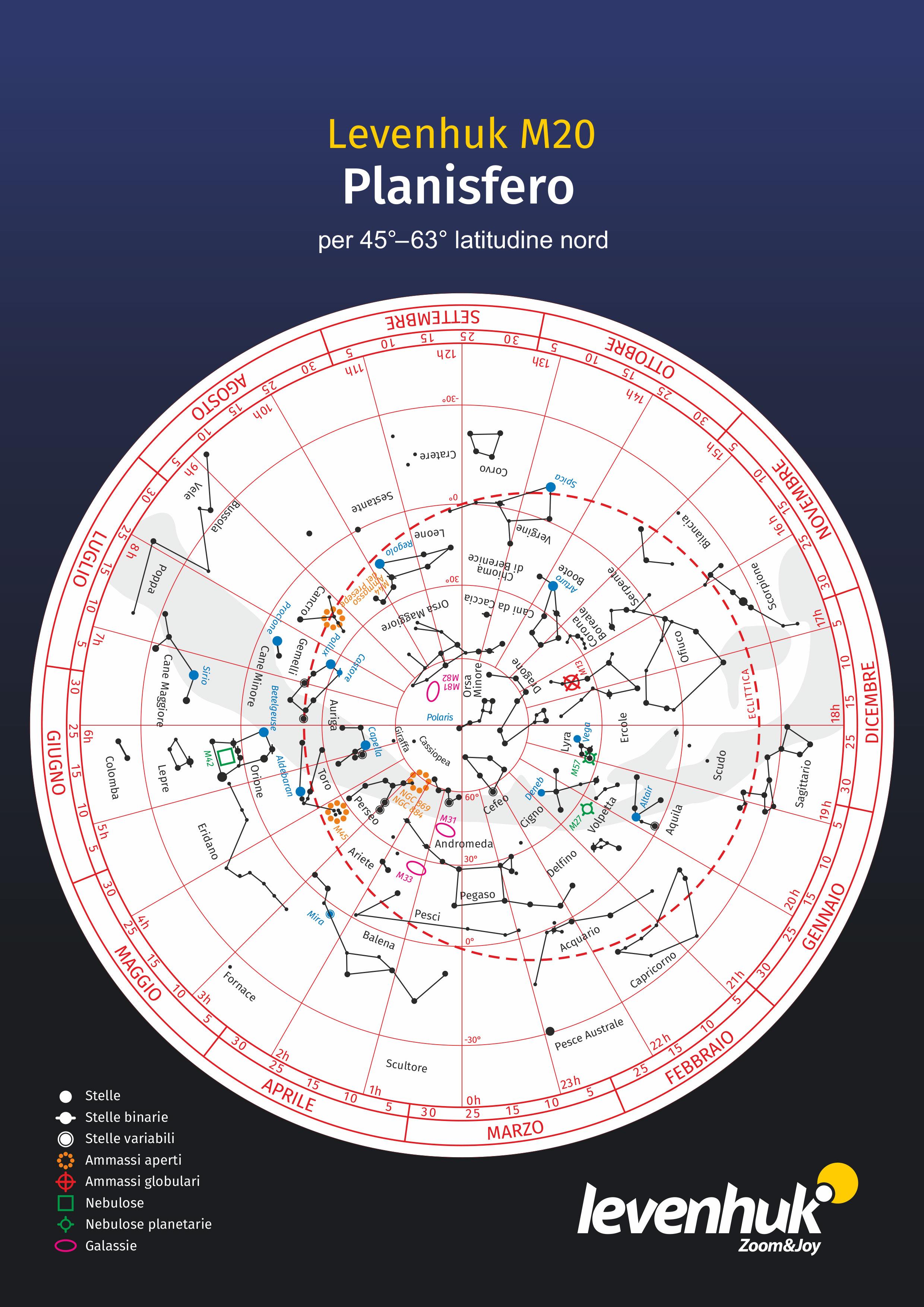 Planisfero grande Levenhuk M20