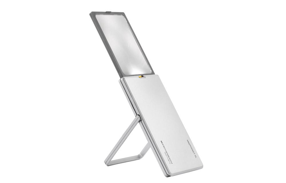 Eschenbach Easy Pocket XL – Lente d'ingrandimento LED tascabile – 2,5x
