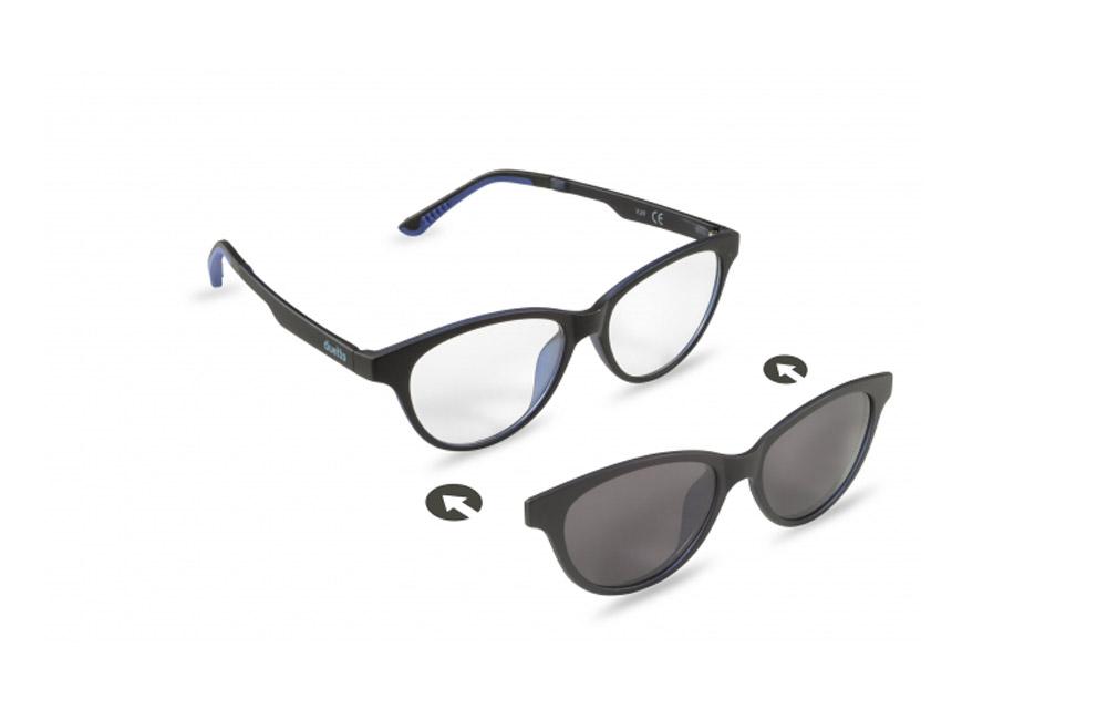 Occhiali da vista + sole – ZIEL Duetto V49 – Montatura Nero-Blu