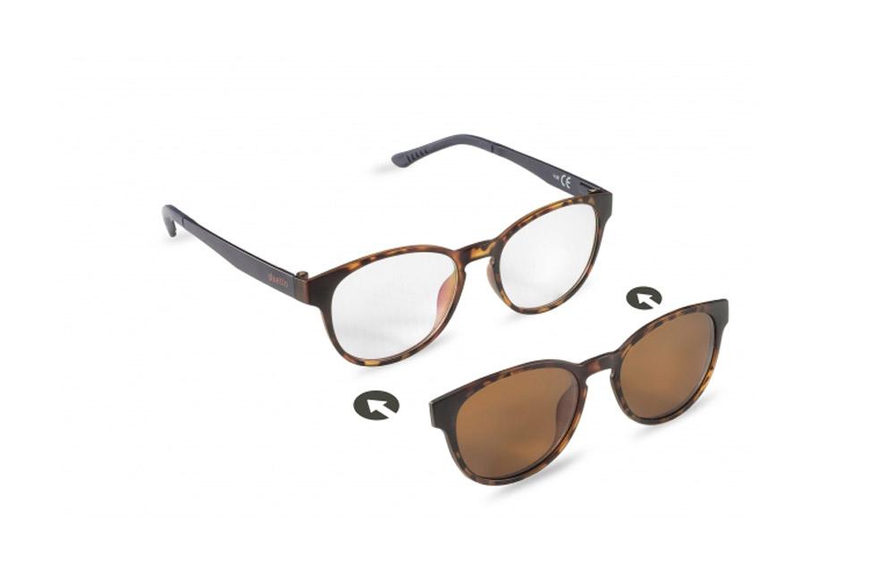Occhiali da vista + sole – ZIEL Duetto V50 – Montatura Avana-Blu