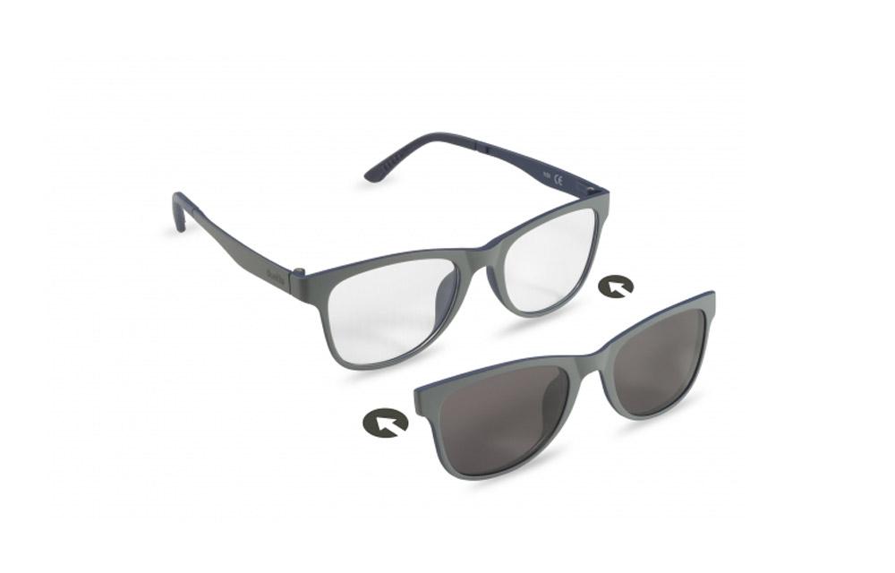 Occhiali da vista + sole – ZIEL Duetto V53 – Montatura Grigio-Blu