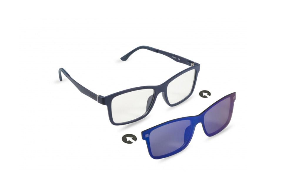 Occhiali da vista + sole – ZIEL Duetto V55 – Montatura Blu