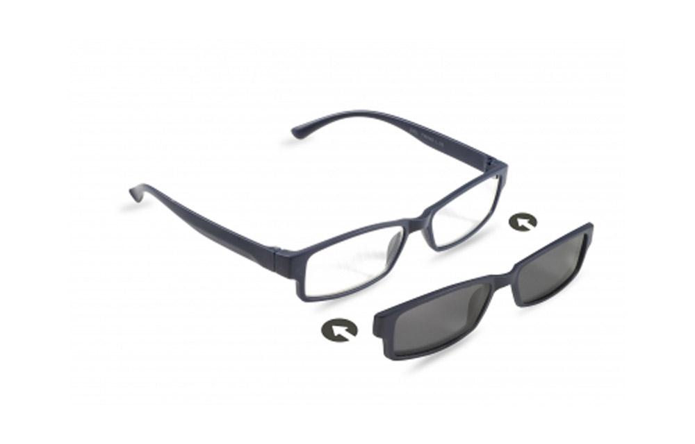 Occhiali da lettura + sole ZIEL TWINS L35 – Montatura Blu