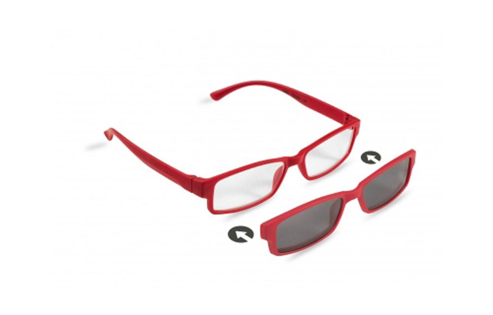 Occhiali da lettura + sole ZIEL TWINS L35 – Montatura Rosso