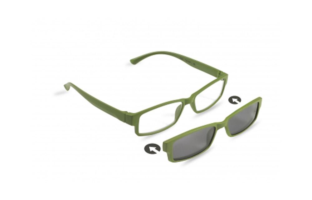 Occhiali da lettura + sole ZIEL TWINS L35 – Montatura Verde