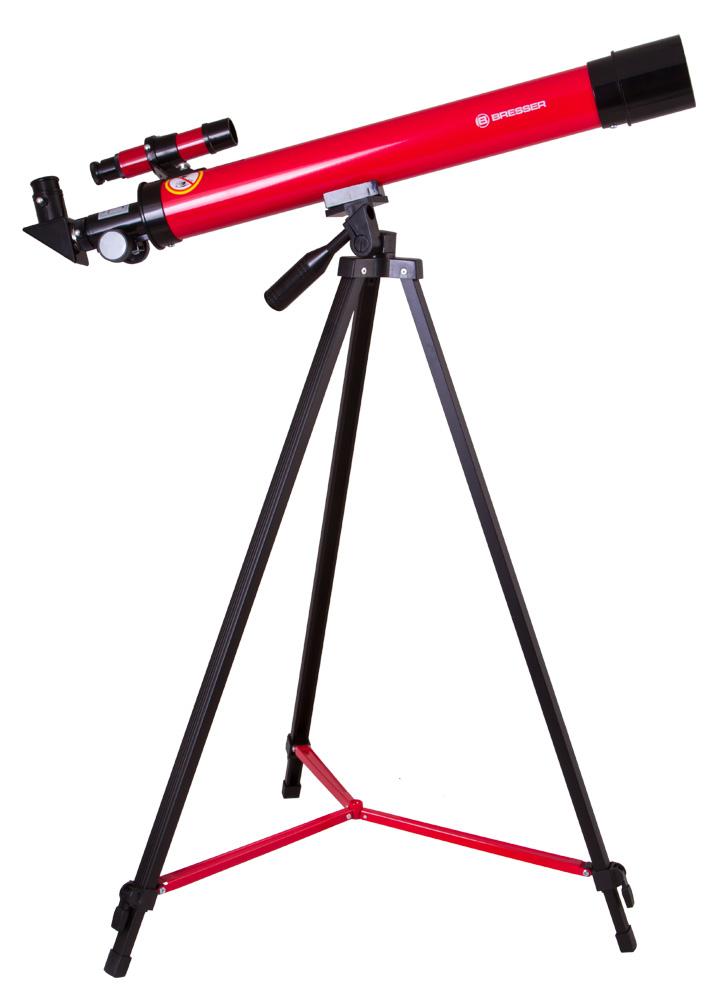 BRESSER JUNIOR TELESCOPIO 45/600 AZ, ROSSO