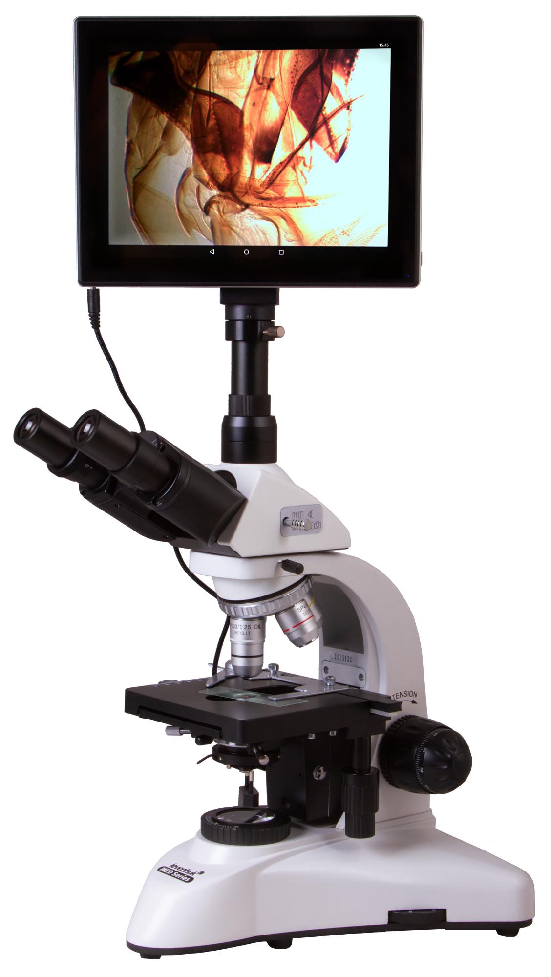 Microscopio trinoculare digitale Levenhuk MED D20T LCD