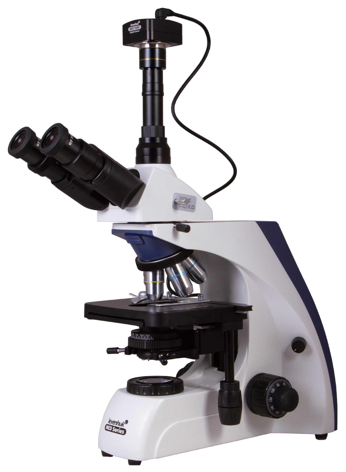 Microscopio trinoculare digitale Levenhuk MED D30T