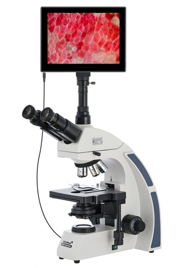 Microscopio trinoculare digitale Levenhuk MED D40T LCD