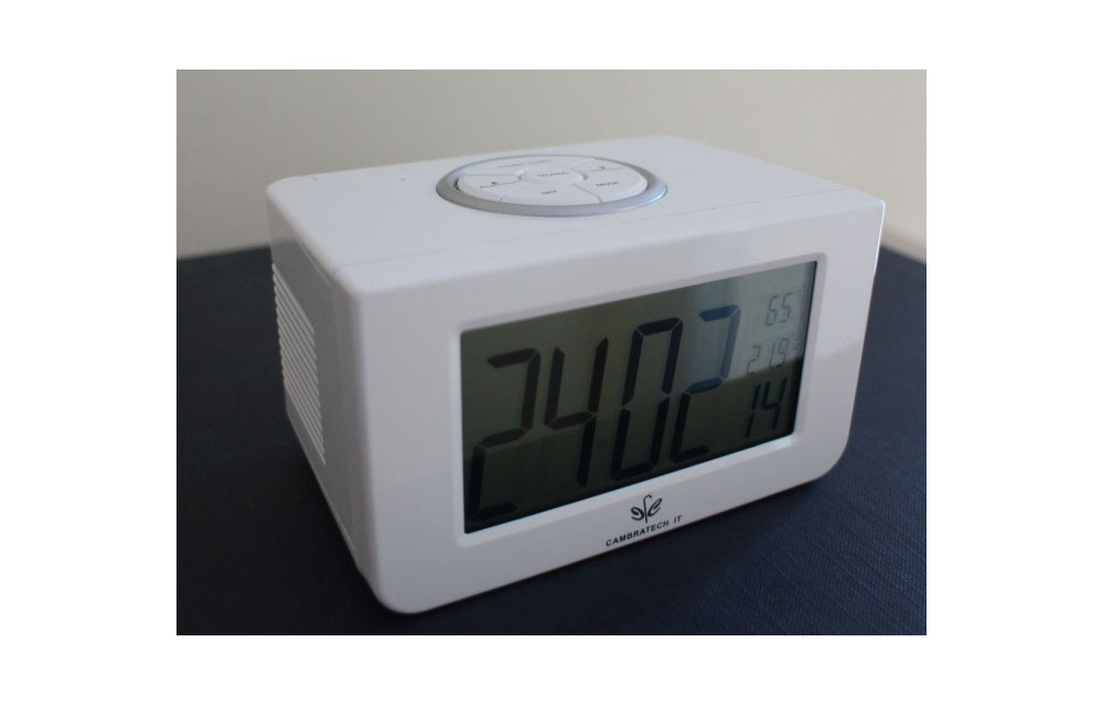 Sveglia LCD parlante con annuncio temperatura