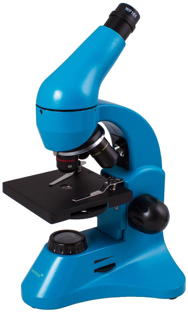 Microscopio Levenhuk Rainbow 50L PLUS, azzurro
