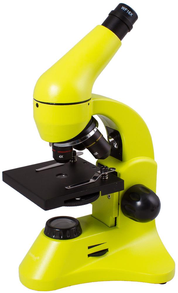 Microscopio Levenhuk Rainbow 50L PLUS, verde limetta